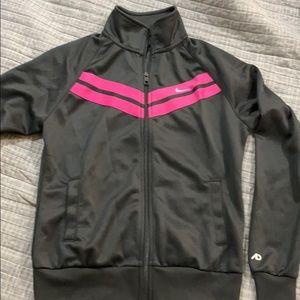 Nike Dark grey w/ Pink Stripes Jacket